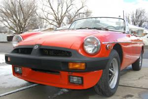 RED 1978 MGB ROADSTER. NO RESERVE