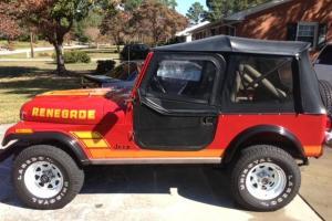1984 Jeep CJ7 Renegade Original paint and Decals. CJ CJ-7