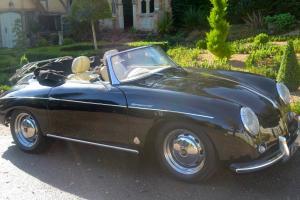 Porsche 356 Speedster convertible- Black with cream leather - Historic Tax