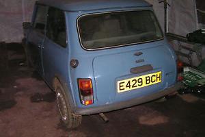 1987 AUSTIN MINI MAYFAIR AUTO BLUE, VERY NEAR FULL MOT