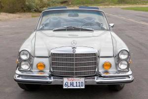 1971 MERCEDES 280SE 3.5 CABRIOLET FLOOR SHIFT SILVER/BLUE SOUTHERN CALIFORNIA