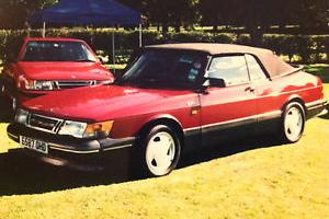 1988 SAAB 900 TURBO 16V CONVERTIBLE RED