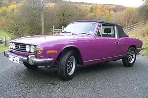 TRIUMPH STAG 1973 3.0l v8 IN MAGENTA MAY 2014 MOT NICE CLEAN CAR RECOMMISIONED