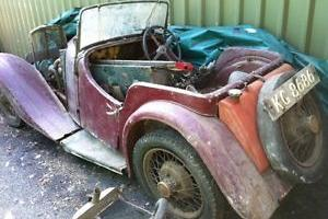 VINTAGE BSA MOTOR SPORTS CLASSIC CAR VEICHLE RESTORATION PROJECT REG