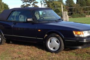 1992 SAAB 900 S CONVERTIBLE BLUE INTERCOOLER