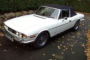 1975 TRIUMPH STAG V8 AUTO WHITE WITH CHESTNUT INTERIOR IN FIRST CLASS CONDITION