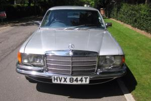 MERCEDES 450 SEL IN GLEAMING SILVER.