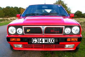 1990 LANCIA DELTA HF INTEGRALE 4WD RED RHD