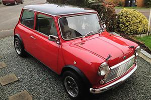 1987 CLASSIC AUSTIN MINI MAYFAIR 1380 Red Black Roof