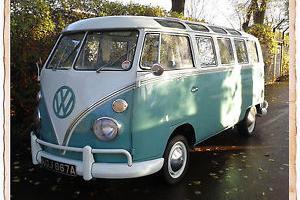 1963 VW Volkswagen Type 2 Splitscreen 21 Window Samba Deluxe Microbus Camper