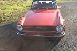 1971 TRIUMPH TR6 LHD RUNNING DRIVING WINTER PROJECT NO RESERVE