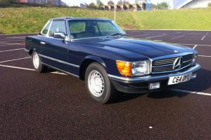 1985 MERCEDES 280 SL AUTO BLUE WITH REAR SEATS LOW MILES GUARANTEED