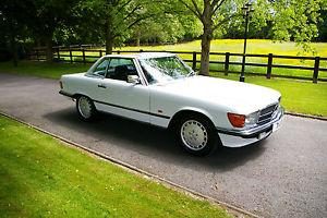1989 MERCEDES 300 SL AUTO WHITE