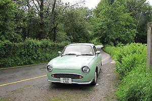 1991 NISSAN FIGARO CONVERTIBLE GREEN/WHITE  Photo