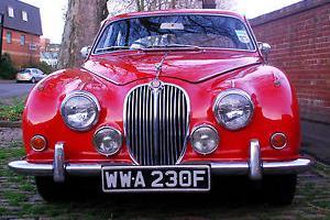 1968 JAGUAR mk2 240 manual over drive RED