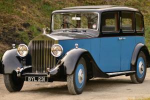 1935 Rolls Royce 20/25 Park Ward Swept Back Limousine.