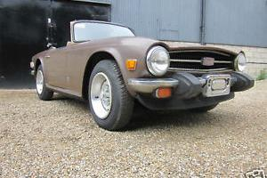 Triumph TR6 1975 Left hand drive Project