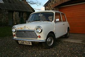 1976 LEYLAND CARS MINI 1000 LE STRIPEY WHITE 1 PREVIOUS KEEPERS LOW MILES  Photo