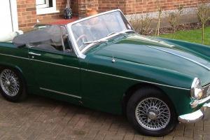 MG Midget 1965, MK11, 1098cc, British Racing Green. A Rare Classic Car