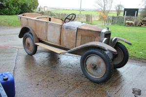 Peugeot 1926 open Tourer type 172R unfinished project