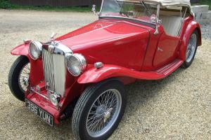 1937 MG TA RED - Correct Engine, Original Body