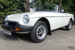1975 MGB Roadster in White with Black leather interior