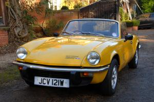 1981 (W) TRIUMPH SPITFIRE 1500 CONVERTIBLE 4-Speed Manual Inca Yellow