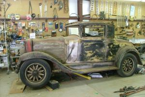 1929 Marmon body #127 Sport coupe golf door coupe side mounts straight 8 runs Photo