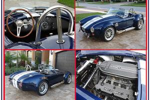 SPECTACULAR BACKDRAFT -Custom Iconic 427 @ 480HP -Indigo Blue with White Stripes