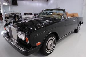 1974 ROLLS-ROYCE CORNICHE CONVERTIBLE, DARK GREEN WITH TAN LEATHER!
