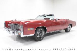 1976 Cadillac Eldorado Convertible Triple-Red 13,500 Original Mile Surviver!