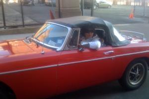 Red MGB classic car convertible 2 door Photo