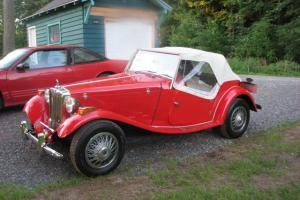 1951 MGT Kit Car with 1970 VW engine RED Convertable Newer top Garaged