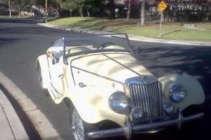 Classic MG roadster in original condition