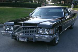 RARE TRIPLE BLACK TWO OWNER SURVIVOR -1974 Cadillac Coupe de Ville -2K ORIG MI