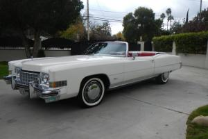 1973 Cadillac Eldorado Convertible 55000 Miles White/Red Excellent in every way