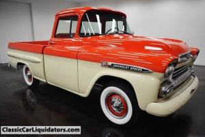 1959 Chevrolet Apache SWB Big Back Window Cool Truck Must See