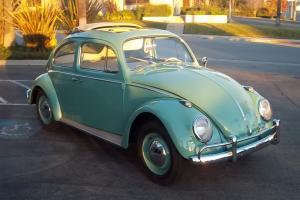 1962 vw beetle ragtop pan off restoration number 1 condition california car....