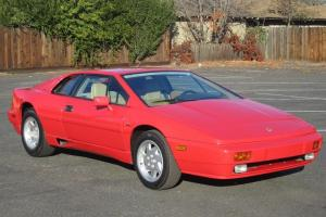 1988 Lotus Esprit Turbo.Red, nice condition.A fun affordable exotic sports car.