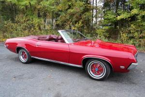 1969 COUGAR CONVERTIBLE*2YR STYLE*1OF113 RED BODY/ WHITE TOP*16500/OFFER! Photo