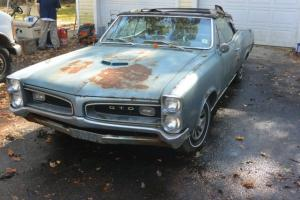 1966 Pontiac GTO 6.5 Convertible Big Block 1 OWNER BARN FIND 66 Goat Matching #s