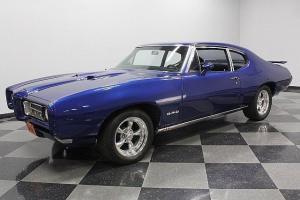 FRAME-UP RESTORED, NICE ELECTRIC BLUE PAINT, PONTIAC 400 V8, GTO TRIBUTE CAR