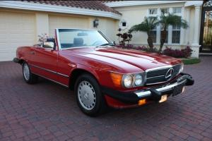 86 Mercedes 560SL Convertible R107 40K Miles Best Colors Hard Top Leather