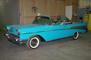 1957 Chevy Bel Air Convertible Barn Find 49K Miles No Rust Ever AACA Senior