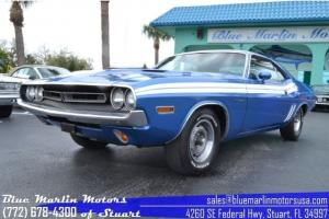 Challenger R/T RT 383 v8 4-speed manual b5 blue vintage pony car ready to drive