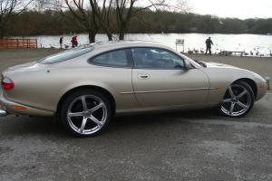 2001 JAGUAR XK8 COUPE AUTO BEIGE