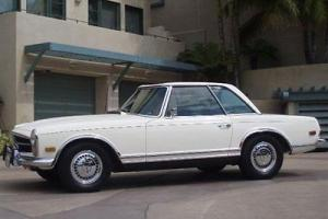 1969 MERCEDES BENZ 280 SL WHITE CALIFORNIA CAR RECENT SERVICE PriceReduced $10k!