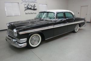 """1955 Chrysler New Yorker """"Deluxe"""" 4 Dr. Sedan in Gorgeous Black w/ White Roof"""