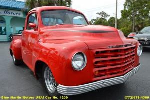 Buick V8 300 Nailhead Auto Restored Truck TORCH RED Custom Hot Rod Cruiser