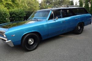 1967 Chevrolet Chevelle Wagon 283 V8, OEM, Straight Drive